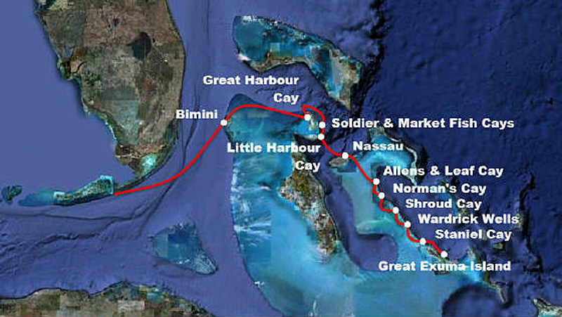 Our Route Through the Bahamas