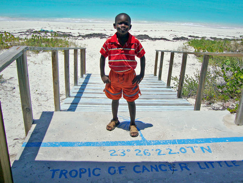 Eric Posing at the Tropic of Cancer Beach