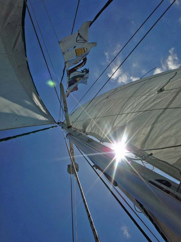 Under Sail with Colors Flying