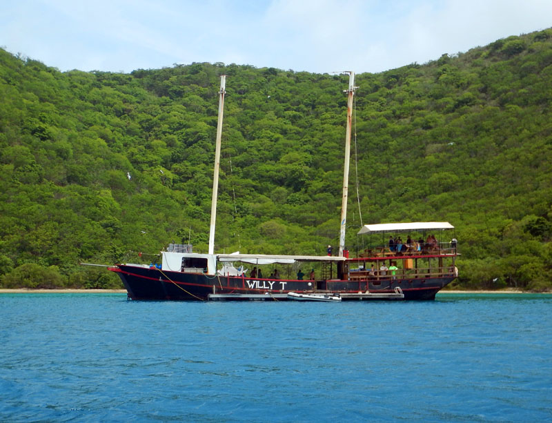 Willy T in The Bight, BVI