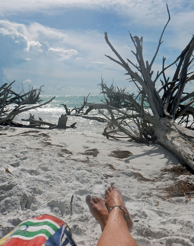 Relaxing on Beer Can Island off Longboat Key