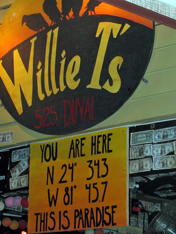We're at Willie T's